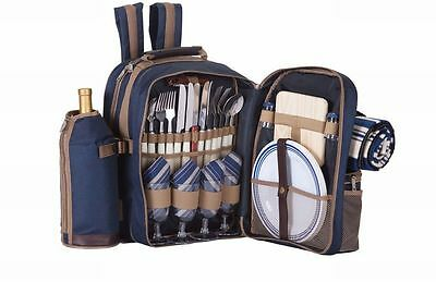 Picnic Plus Tremont 4 Person Picnic Backpack - Navy - PS4-416N