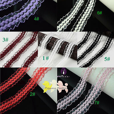 Stretch Lace 2 Ms 8 Colours *You Choose* $1.50 a Metre Frilly Organza 25mm Wide
