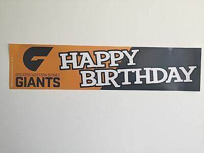 Official AFL Greater Western Sydney GWS Giants Happy Birthday Banner Poster