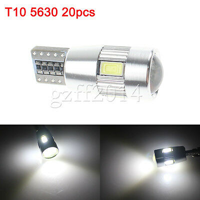 20X White T10 5630 6SMD Wedge LED Canbus Error Free Light bulbs W5W 168 921 194