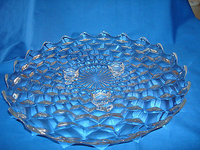 """American~Fostoria~Elegant~Glass~12""""~Round~Serving~Tray~Footed"""