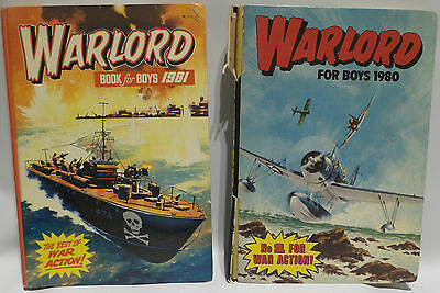 Vintage Books : Warlord Annuals For 1980 & 1981. Book For Boys (Pj)