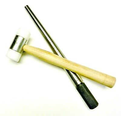 Steel Ring Mandrel & Nylon Face Mallet Jewelry Making Tool Set Sizing & Forming