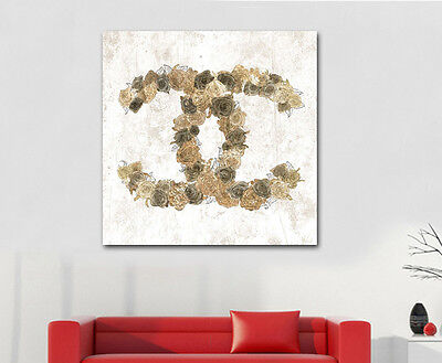 Fashion Chanel Canvas Print Framed Wall Art Home Shop Decor Painting Gift Flower