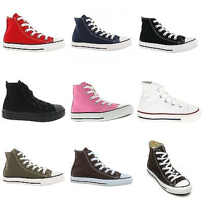 Converse Chuck Taylor Hi All Star Canvas Kids Trainers
