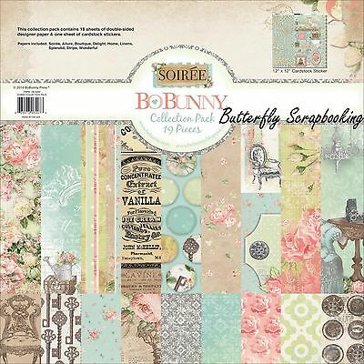 PASTEL SOIREE Collection Pack 12x12 Scrapbooking Kit BoBunny 19616407 New