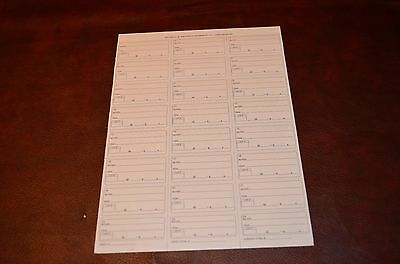 50 sheets Auction Clerking Tickets Receipts Auctioneer 1200 Tickets! Clerk CT-24