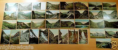 Lot of 36 Antique Postcards ALL CRAWFORD NOTCH, NH New Hampshire M.C.RR Station
