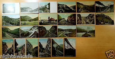 Lot of 23 Antique Postcards ALL CRAWFORD NOTCH, NH New Hampshire M.C.RR Station