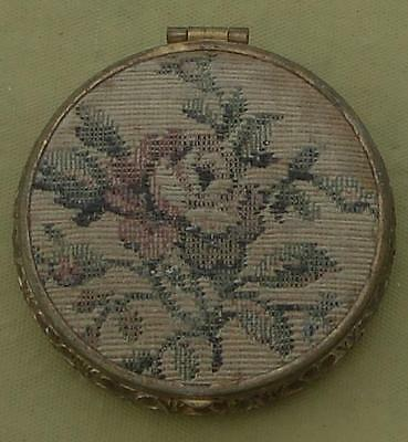 Wonderful Antique Tiny Size Powder Compact - With Rouge Under Mirror - VGC