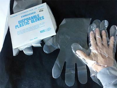 Embosses Disposable Plastic Gloves Food Service  Hand Protection 1000 Pair M