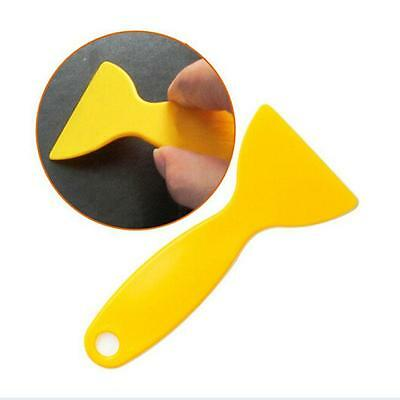 Useful Competitive Car Stickers Scraper Plate Glass Yellow Plastic Film Tools Y