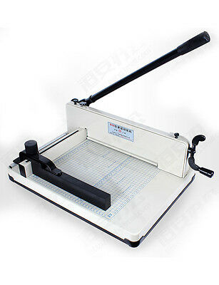 12in Manual Guillotine Paper Cutter Trimmer Industrial Heavy Duty Legal/A4