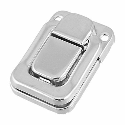 Silver Tone Métal Spring Loed Cases Boxes Chest Toggle Catch Latch