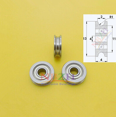 U604ZZ U Shape Slideway wheel Roller Bearings 4*13*4mm 604U for 3D printer