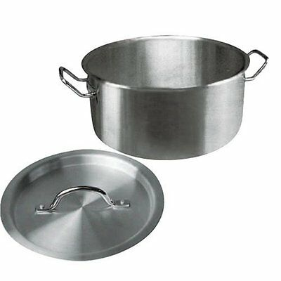 WinCo Sslb-30 Brazier 30 Quart With Cover Stainless Steel