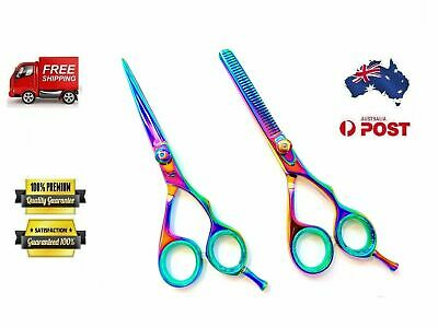 Professional Barber Hairdressing Scissors Thinning & Hair Cutting Set Multi 5.5'