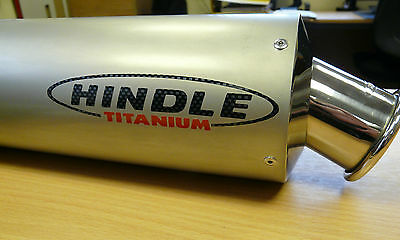 """Titanium 2"""" Slip On Motorcycle Muffler End Can Exhaust 16"""" Race Underseat Oval"""