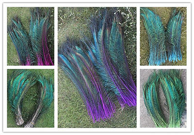10-200pcs peacock feather sword 12-14 inches/30-35 cm left and right Symmetric