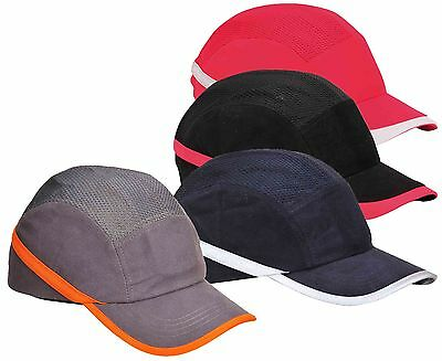 Portwest PW69 coolcap vented bump caps safety hard hat black navy red