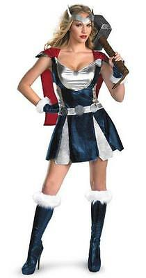 Womens Ladies Sexy Thor Viking Costume Fancy Dress Hen Party Superhero Hero