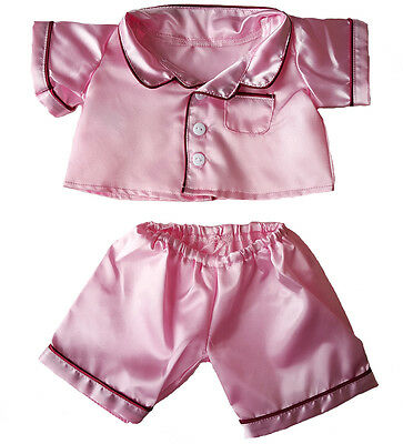 """Pink Satin PJ's Teddy Bear Clothes Fits Most 14"""" - 18"""" Build-A-Bear and More"""