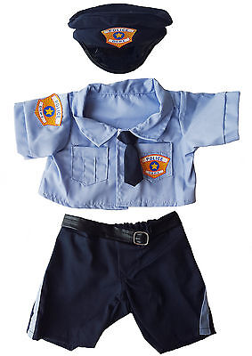 """Policeman Uniform Outfit Teddy Bear Clothes Fits 14""""-18"""" Build-A-Bear and More"""