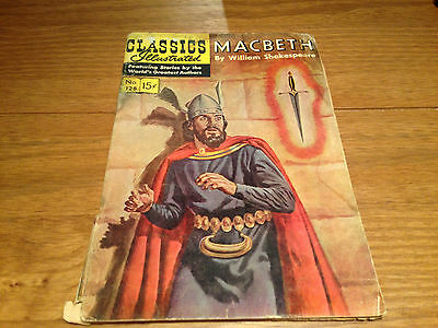 Vintage Classics Illustrated Macbeth by William Shakespeare Comic No 128