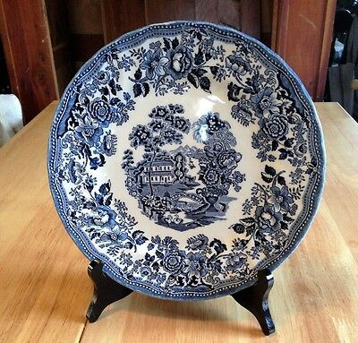 """THE GEORGIAN COLLECTION CHURCHILL 10"""" Dinner Plate England Blue & White"""