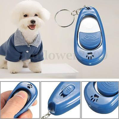 Blue Pet Dog Puppy Click Clicker Training Trainer With Adjustable Volume & Tone