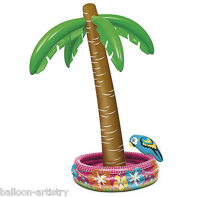 """70"""" Tropical Luau Summer Beach BBQ Party Inflatable Palm Tree Drinks Cooler"""