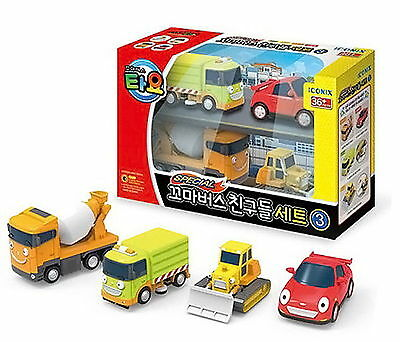 Little Bus TAYO's Friends Mini Edition III 4 pcs car Toy- Ruby,Billy,Speed,Chris