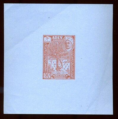 Aden 1956 Rare Airletter Stamp Proof