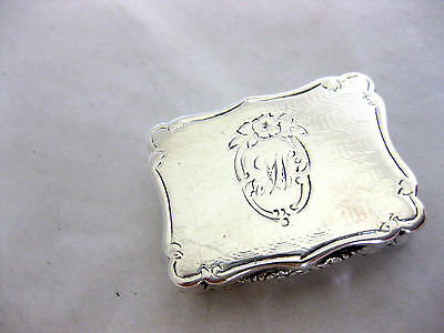 ANTIQUE SOLID SILVER--VINAIGRETTE--HALLMARKED:-BIRMINGHAM 1862 by ALFRED TAYLOR