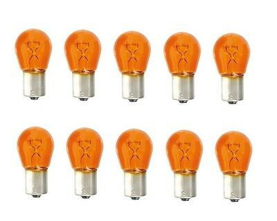 20x KS Equipment Glühlampe Kugellampe orange amber 12V 21W PY21W BAU15s B4490a