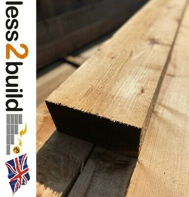 New Treated Timber Garden Railway Sleepers 200X100 2.4M Brown Raised Beds