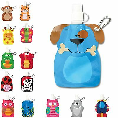 Children Kids Reusable Foldable Little Squirts Drink Pouch Container Bag New