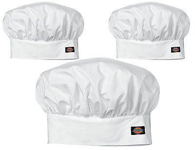 3PACK Dickies Chef Classic Floppy Chef Hat with Adjustable Velcro DC401