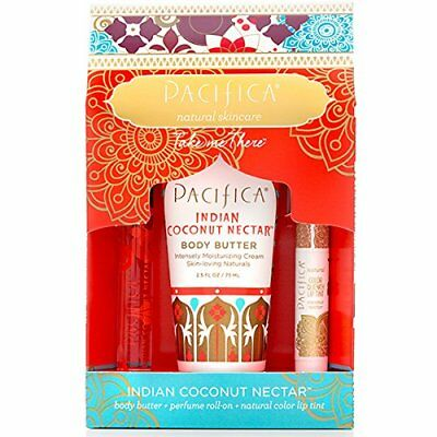 Pacifica Indian Coconut Nectar Take Me There Gift Set FREE P&P