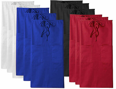 "3-PACK Dickies Chef Full Bistro Apron with 2 Pockets, 32"" Long, DC509"