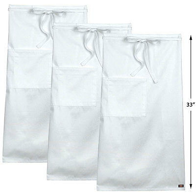 3PACK Dickies Chef Full Bistro Apron DC508