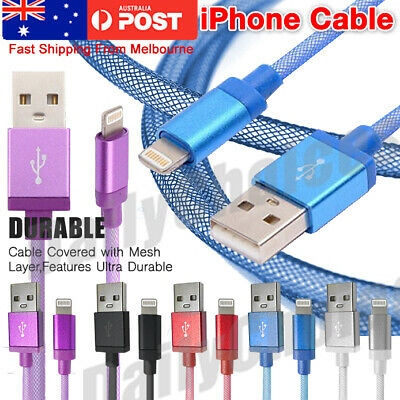 iPhone 6s Plus 5s 7 7 Plus Data Charger USB Lightning Cable Cord IOS10 IOS 9 AU