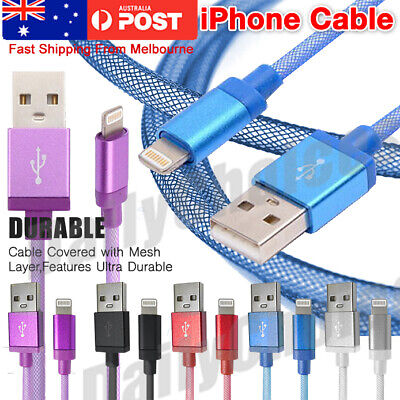 iPhone 6s Plus 5s 7 7 Plus Data Charger Braided USB Lightning Cable Cord IOS9 AU