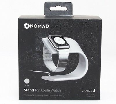 Nomad Charging Stand for Apple Watch - (stand-apple-s-001) - Silver