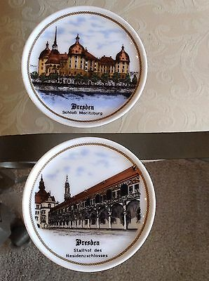 """2 Dresden Hand Painted Plates Made In Germany 4"""""""