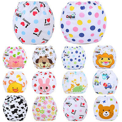 Baby New Infant Reusable Adjustable Washable Cloth Cover Diaper Nappy Diapers