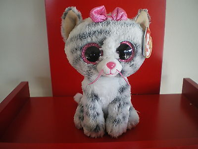 Ty Beanie Boos KIKI the  6 inch grey cat NWMT.  BRAND NEW JUST ARRIVED..