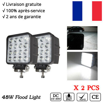 2x 48w LED work light lamp off road truck 4x4 SUV 4wd 12v 24v phare de travail
