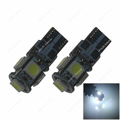2xT10 W5W 168 5 SMD 5050 LED Car Side Wedge Tail Light Bulb Lamp Free Shipping