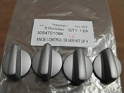 305470109K: Westinghouse-Universal Stove-Oven Silver Knobs (NOT FOR GAS (Pkt 4)